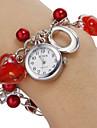 Женские Модные часы Часы-браслет Кварцевый Группа Heart Shape С подвесками Красный