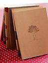 sonhar tempo notebook kraft tampa do papel diário (cor aleatória)