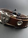 Homme Bracelets en cuir Original Perle Fait a la main Europeen bijoux de fantaisie Mode Cuir Alliage Bijoux Bijoux Pour Quotidien