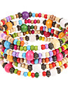 패션 6CM 여자의 여러 가지 빛깔의 목재 포장 팔찌 (다색) (1 개)