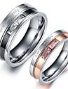여성용 커플 링 크리스탈 러브 하트 크리스탈 스테인레스 모조 다이아몬드 보석류 보석류 제품 결혼식 파티 일상