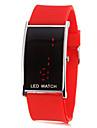 Женская Красный светодиодный цифровой силиконовой лентой наручные часы (разных цветов)
