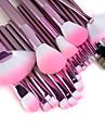 Профессиональный набор качественных кистей для макияжа с розовыми ручками (22 шт.)