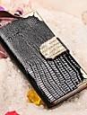 용 아이폰5케이스 카드 홀더 / 스탠드 케이스 풀 바디 케이스 기하학 패턴 하드 인조 가죽 iPhone SE/5s/5