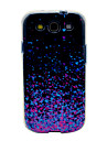 Purple Shining Sequins Pattern TPU Soft Case Cover for Galaxy S3 I9300