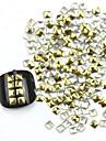 300PCS 3D Golden Square Alloy Nail Art Golden&Silver Decorations