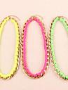 Флуоресцентные цвета плетеные ожерелья