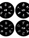 1PCS Nail Art Stamp Stamping Image Template Plate B Series NO.45-48(Assorted Pattern)