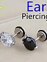 Lureme®316L Surgical Titanium Steel Zircon Talons Single Stud Earrings (Random Color) Christmas Gifts