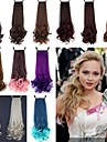 Отлично качества синтетического 18-дюймовый 100г Длинные вьющиеся ленты хвост парики - 12 Цвета