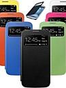 Smart View Услуга PU кожаный чехол для Samsung s4 мини 9190 (разных цветов)