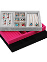 Коробки для бижутерии Фланелет / Бумага Геометрической формы Розоватый / Черный / серый