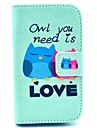 Owl You Need Love Pattern PU Leather Cover Case with Stand for Samsung Galaxy Fame S6810