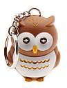 LED Lighting / Key Chain Owl Cartoon Key Chain / LED Lighting / Sound Khaki ABS