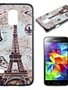 карты и Эйфелева башня шаблон шт жесткий чехол для Samsung Galaxy S5 мини G800