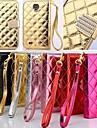 Для Кейс для  Samsung Galaxy Бумажник для карт / со стендом / Флип Кейс для Чехол Кейс для Один цвет Искусственная кожа Samsung S4
