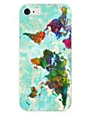 Colorful Map Pattern Back Case for iPhone 6