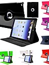 DF Flip-open PU Leather Full Body Case with 360 Degree Rotation Stand for iPad Air 2 (Assorted Colors)