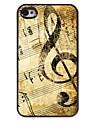 아이폰 4 / 4S에 대한 복고풍 디자인 음악 패턴 알루미늄 하드 케이스