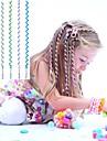 Corda cabelo encaracolado 6pcs 24 centimetros das criancas azuis