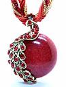 Femme Colliers/Sautoir Pendentif Colliers Declaration Medaillons Colliers Paon Acrylique Resine Cuivre Opale Alliage Ajustable Boheme