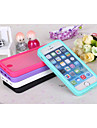 Pour Coque iPhone 5 Clapet Coque Coque Integrale Coque Couleur Pleine Flexible PUT pour iPhone SE/5s/5