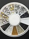 12-Style Alloy Rivet+Rhinestone+ Pearl + Ball Beads Nail Art Decoration