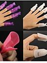 10pcs  Plastic Reusable Keeper Nail Polish Soak Off Clip Cap Remover Wrap(Color Random Delivery)