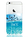 Pour iPhone X iPhone 8 iPhone 6 iPhone 6 Plus Etuis coque Transparente Motif Coque Arrière Coque Paysage Flexible PUT pour iPhone X