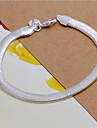 Homme Femme Chaines & Bracelets Mode bijoux de fantaisie Argent sterling Forme Geometrique Serpent Bijoux Pour Mariage Soiree Quotidien
