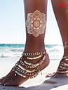 Mulheres Tornezeleira/Pulseiras Liga Sexy Bikini Paetes Multi Camadas bijuterias Joias Joias Para Diario Casual