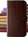 빈티지 나무 패턴 PU 가죽 전신 아이폰 5C를위한 스탠드 보호 케이스 (모듬 색상)