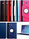 Para Samsung Galaxy Capinhas Com Suporte / Flip / Rotacao 360° Capinha Corpo Inteiro Capinha Cor Unica Couro PU Samsung Tab E 9.6