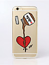 For iPhone 6 Case / iPhone 6 Plus Case Ultra-thin / Transparent / Pattern Case Back Cover Case Cartoon Soft TPUiPhone 6s Plus/6 Plus /