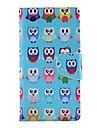 Назначение Кейс для  Samsung Galaxy Чехлы панели Бумажник для карт Кошелек со стендом Флип Чехол Кейс для Сова Искусственная кожа для