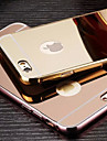 Plating Mirror Back with Metal Frame Phone Case for iPhone 6s 6 Plus