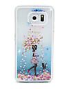 Pour Samsung Galaxy Coque Liquide Coque Coque Arriere Coque Dessin Anime Polycarbonate pour Samsung S6 edge S6
