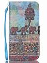 Pour Samsung Galaxy Coque Portefeuille Porte Carte Avec Support Clapet Coque Coque Integrale Coque Elephant Cuir PU pour SamsungS6 edge