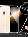 Для Кейс для iPhone 6 / Кейс для iPhone 6 Plus Ультратонкий / Прозрачный Кейс для Задняя крышка Кейс для Один цвет Мягкий TPUiPhone 6s