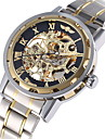 WINNER Men\'s Dress Watch Fashion Watch Mechanical Watch Mechanical manual-winding Automatic self-winding Large Dial Luminous Alloy Band