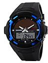 Skmei® Men\'s Dual Time Zone Soloar Multifunction Wrist Watch 50m Waterproof Assorted Colors Cool Watch Unique Watch Fashion Watch