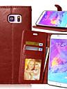 용 Samsung Galaxy Note 지갑 / 카드 홀더 / 스탠드 / 플립 케이스 풀 바디 케이스 단색 인조 가죽 Samsung Note 5 / Note 4 / Note 3