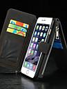 Para iPhone 8 iPhone 8 Plus iPhone 6 iPhone 6 Plus Case Tampa Carteira Porta-Cartao Com Suporte Flip Corpo Inteiro Capinha Cor Solida
