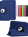 For Case Cover with Stand Auto Sleep / Wake 360° Rotation Origami Full Body Case Solid Color Hard PU Leather for Apple iPad (2017) iPad