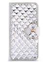 Pour Coque LG Porte Carte Strass Avec Support Clapet Coque Coque Integrale Coque Forme Geometrique Dur Cuir PU pour LG LG G4