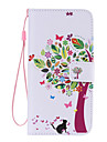 Cat and Tree Painted PU Phone Case for Galaxy S6edge Plus/S6edge/S6/S5/S5mini/S4/S4mini/S3/S3mini