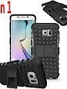 Pour Samsung Galaxy S7 Edge Antichoc Relief Coque Coque Arriere Coque Armure Polycarbonate pour SamsungS7 edge S7 S6 edge plus S6 edge S6