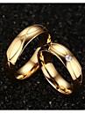 Couple Bagues Affirmees bijoux de fantaisie Acier au titane Plaque or Bijoux Pour Mariage Soiree Quotidien Decontracte Sports