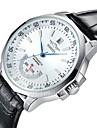 WINNER® Men\'s  Automatic Mechanical Water Proof Date Black Leather Band Wrist Watch Cool Watch Unique Watch Fashion Watch