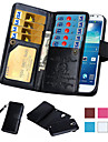 Para Samsung Galaxy Note Porta-Cartao / Carteira / Flip Capinha Corpo Inteiro Capinha Cor Unica Couro PU Samsung Note 5 / Note 4 / Note 3